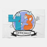 Officially 43 Birthday Banner Hand Towel