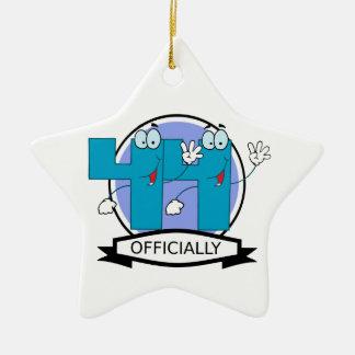 Officially 44 Birthday Banner Ceramic Ornament