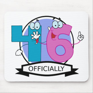 Officially 46 Birthday Banner Mouse Pad