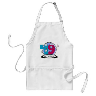 Officially 49 Birthday Banner Adult Apron