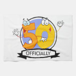 Officially 50 Birthday Banner Hand Towel
