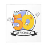 Officially 50 Birthday Banner Scratch Pads