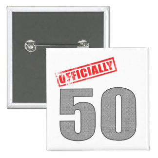 Officially 50 Birthday Gifts Button