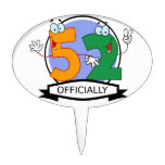 Officially 52 Birthday Banner Cake Toppers