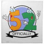 Officially 52 Birthday Banner Cloth Napkin