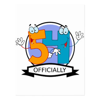 Officially 54 Birthday Banner Postcard