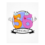 Officially 56 Birthday Banner Letterhead Template