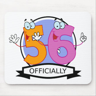 Officially 56 Birthday Banner Mouse Pad