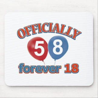 Officially 58 forever 18 mouse pad