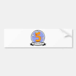 Officially 5 Birthday Banner Bumper Sticker