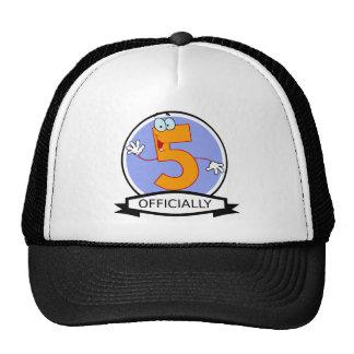 Officially 5 Birthday Banner Trucker Hat
