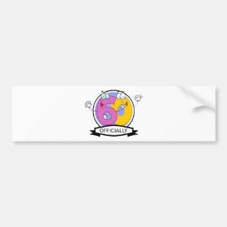 Officially 60 Birthday Banner Bumper Sticker