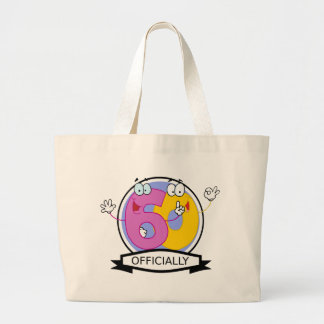 Officially 60 Birthday Banner Large Tote Bag