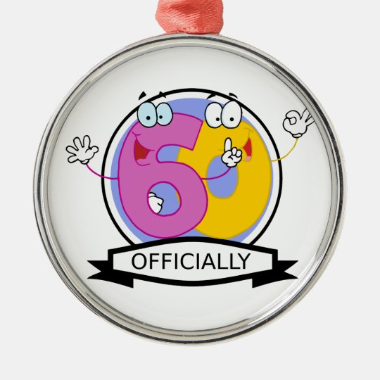 Officially 60 Birthday Banner Metal Ornament