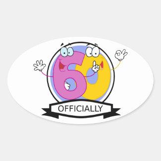 Officially 60 Birthday Banner Oval Sticker