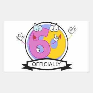 Officially 60 Birthday Banner Rectangular Sticker