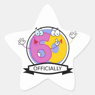 Officially 60 Birthday Banner Star Sticker