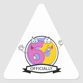 Officially 60 Birthday Banner Triangle Sticker