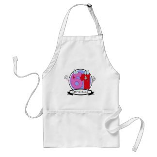 Officially 61 Birthday Banner Adult Apron