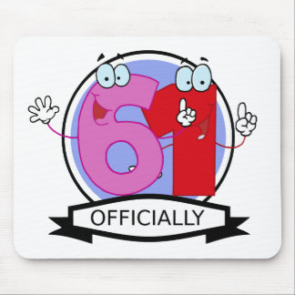 Officially 61 Birthday Banner Mouse Pad