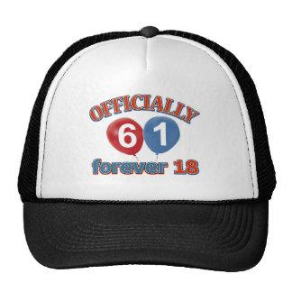 Officially 61 forever 18 trucker hat