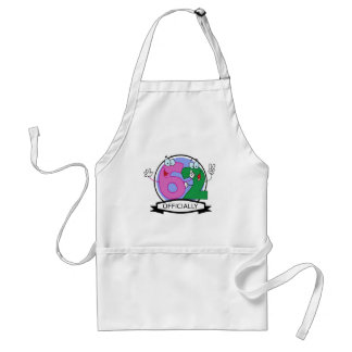 Officially 62 Birthday Banner Adult Apron