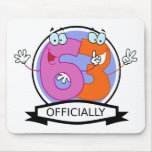 Officially 63 Birthday Banner Mousepad