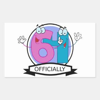 Officially 64 Birthday Banner Rectangular Sticker