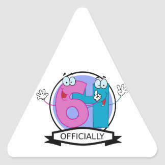 Officially 64 Birthday Banner Triangle Sticker