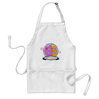 Officially 65 Birthday Banner Adult Apron