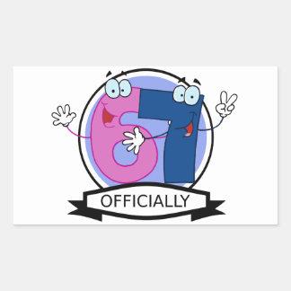 Officially 67 Birthday Banner Rectangular Sticker