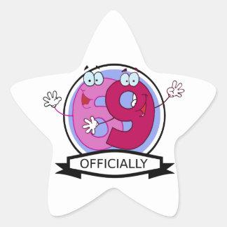 Officially 69 Birthday Banner Star Sticker