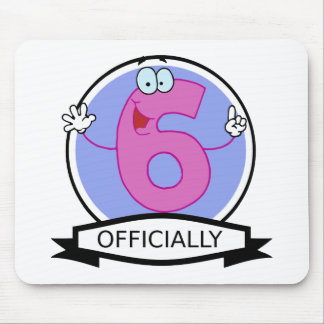 Officially 6 Birthday Banner Mouse Pad