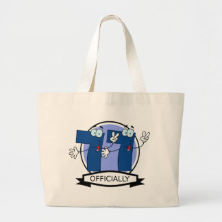 Officially 77 Birthday Banner Tote Bags