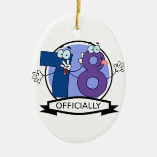 Officially 78 Birthday Banner Christmas Ornament