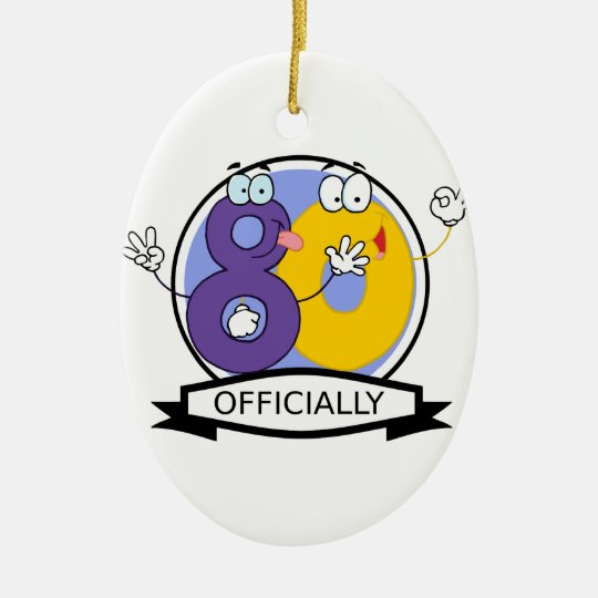Officially 80 Birthday Banner Ceramic Ornament