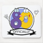 Officially 80 Birthday Banner Mousepad