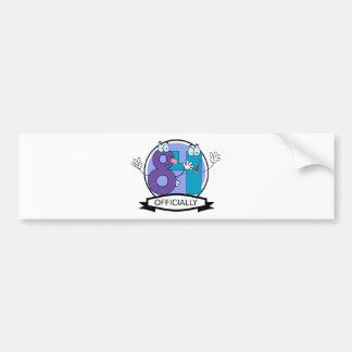 Officially 84 Birthday Banner Bumper Sticker
