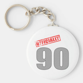 Officially 90 Birthday Gifts Keychain