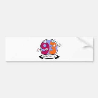Officially 93 Birthday Banner Bumper Sticker