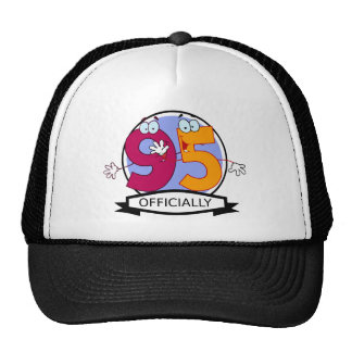 Officially 95 Birthday Banner Trucker Hat