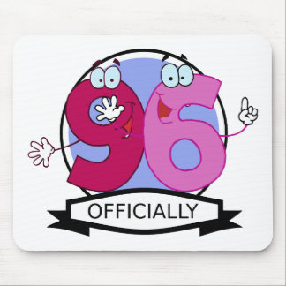Officially 96 Birthday Banner Mouse Pad