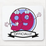 Officially 99 Birthday Banner Mousepad