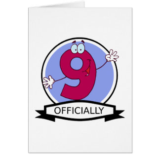Officially 9 Birthday Banner Greeting Card