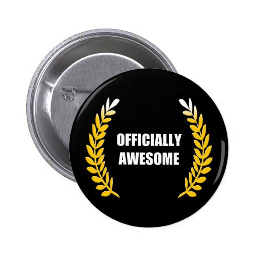 Officially Awesome 2 Inch Round Button