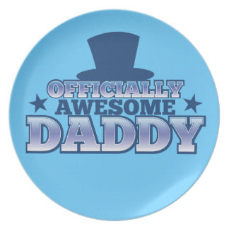 Officially AWESOME daddy with a top hat from Jazzy Dinner Plate