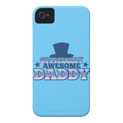 Officially AWESOME daddy with a top hat from Jazzy iPhone 4 Case-Mate Case