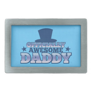 Officially AWESOME daddy with a top hat from Jazzy Rectangular Belt Buckle