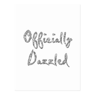 officially dazzled postcard
