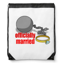 Officially Married Drawstring Backpack